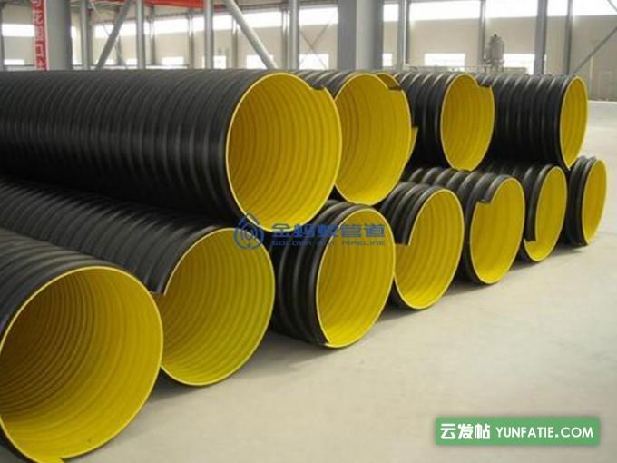 HDPE排水管之_钢带增强螺旋波纹管