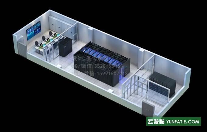 台州建筑外观效果图制作 全景图 指挥中心大屏效果图设计