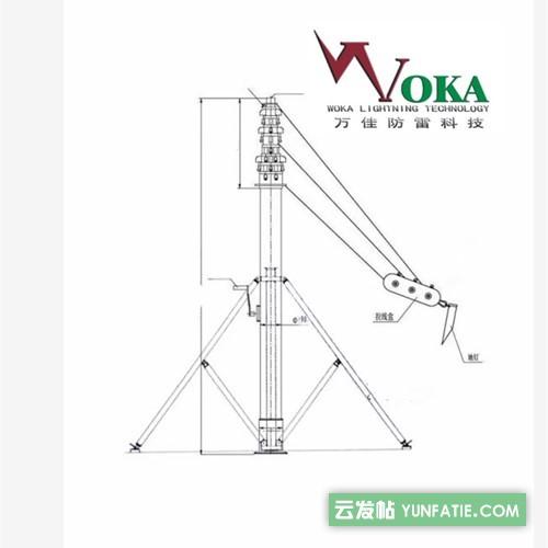18米20米手动升降避雷针_15米手动电动一体避雷针