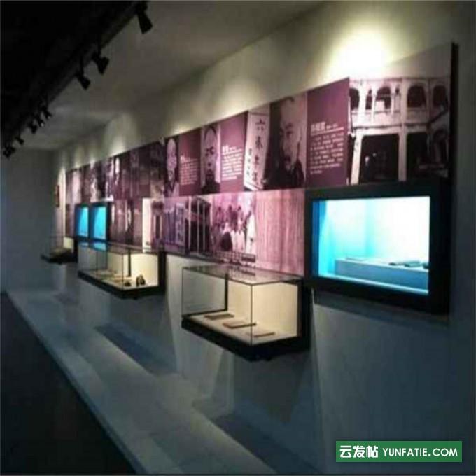 博物馆展示柜艺术品文物展柜博物馆展柜悬挑柜设计定做