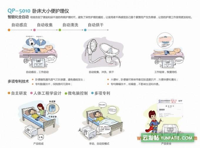 智能卧床全自动大小便护理仪