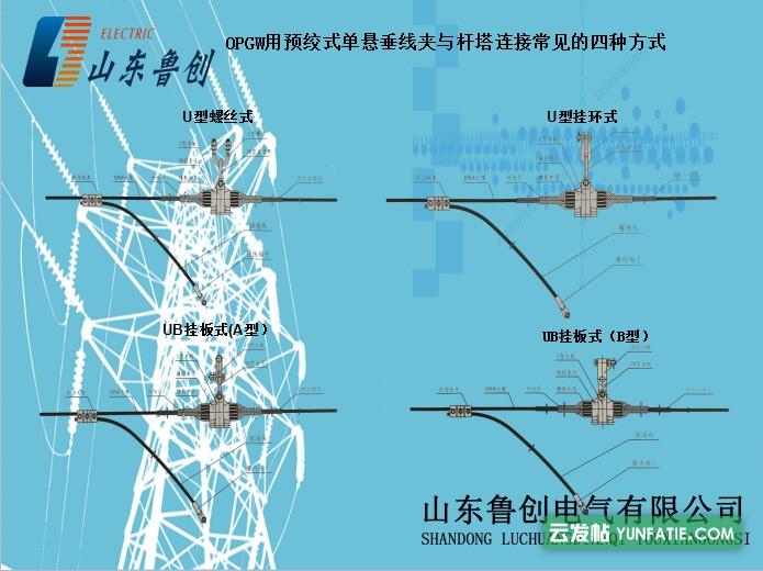生产光缆线路金具预绞丝悬垂线夹铝合金直线金具可订做