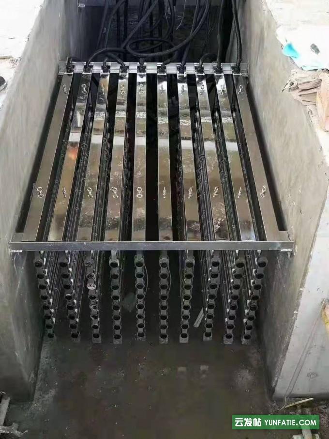 丽水城市污水处理气动清洗消毒器模块装置_明渠