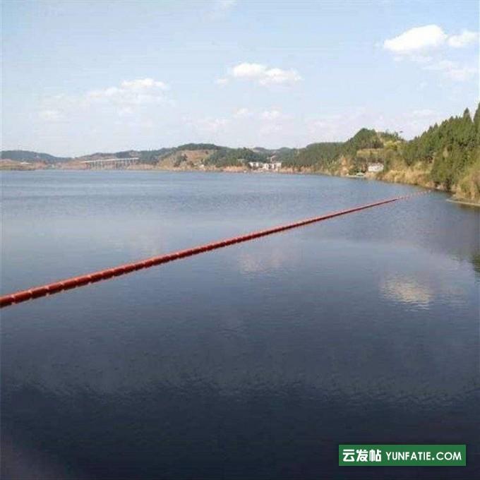 水污染垃圾拦截阻污浮筒柏泰水上塑料拦污浮筒