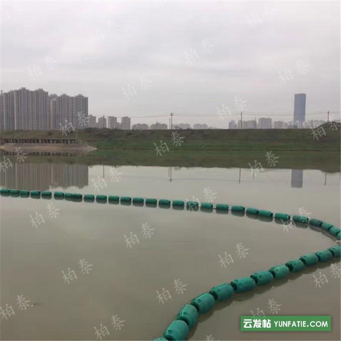 自浮式塑料浮排筒拦截水面污染垃圾