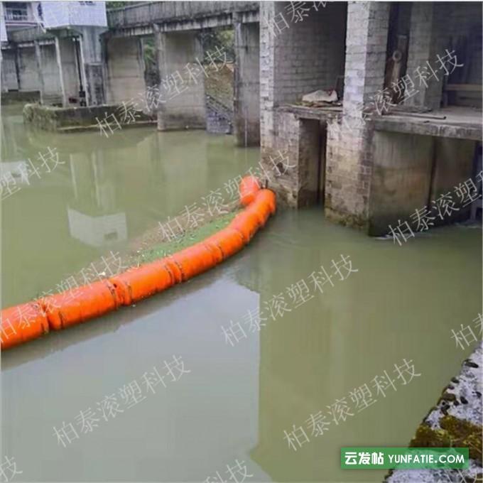 拦截警示阻污塑料拦污浮筒柏泰水上浮体